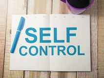 Self Control, Motivational Words Quotes Concept stock image