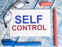 Self Control, Motivational Words Quotes Concept royalty free stock image