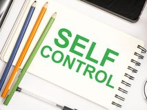 Self Control, Motivational Words Quotes Concept. Self Control, business motivational inspirational quotes, words typography lettering concept text self-control stock photos