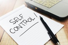 Self Control, Motivational Words Quotes Concept. Self Control, business motivational inspirational quotes, words typography lettering concept text self-control royalty free stock photography