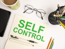 Self Control, Motivational Words Quotes Concept. Self Control, business motivational inspirational quotes, words typography lettering concept text self-control stock images