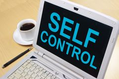 Self Control, Motivational Words Quotes Concept. Self Control, business motivational inspirational quotes, words typography lettering concept text self-control stock photo