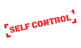 Self Control rubber stamp. Grunge design with dust scratches. Effects can be easily removed for a clean, crisp look. Color is easily changed Stock Image