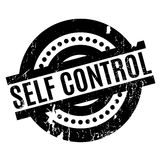 Self Control rubber stamp. Grunge design with dust scratches. Effects can be easily removed for a clean, crisp look. Color is easily changed Stock Photography