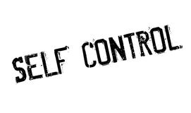 Self Control rubber stamp. Grunge design with dust scratches. Effects can be easily removed for a clean, crisp look. Color is easily changed Royalty Free Stock Image