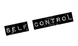 Self Control rubber stamp. Grunge design with dust scratches. Effects can be easily removed for a clean, crisp look. Color is easily changed Royalty Free Stock Images