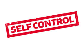 Self Control rubber stamp Stock Photography