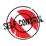 Self Control rubber stamp. Grunge design with dust scratches. Effects can be easily removed for a clean, crisp look. Color is easily changed Royalty Free Stock Photography