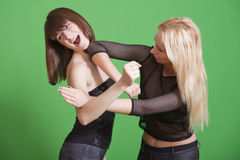 Self defence. Technique in martial arts - elbow hit Stock Image