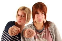 Self-defense girls Stock Photo