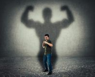 Self defense, inner strength and motivation concept royalty free illustration