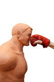 Self defense - Punching on face Royalty Free Stock Photography