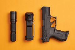 Self defense and security equipment stock image