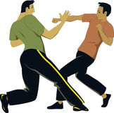 Self-defense sparring Royalty Free Stock Images