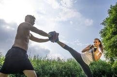 Self defense training Stock Image