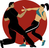 Self-defense for women Stock Photography
