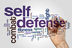 Self defense word cloud Stock Image
