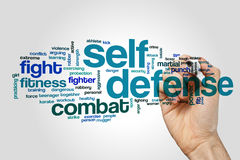 Self defense word cloud Stock Photo