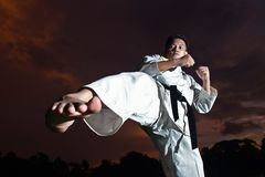Self defense workout Royalty Free Stock Photography