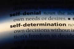 Self determination. Word in a dictionary.  concept royalty free stock photos