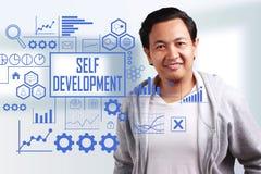 Self Development, Business Motivational Inspirational Quotes stock image