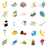Self development icons set, isometric style. Self development icons set. Isometric set of 25 self development vector icons for web isolated on white background Royalty Free Stock Photos