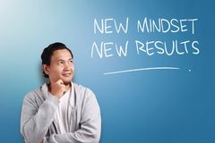 Self Development Motivational Words Quotes Concept, New Mindset Result stock photography