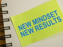 Self Development Motivational Words Quotes Concept, New Mindset Result vector illustration