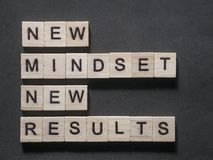 Self Development Motivational Words Quotes Concept, New Mindset Result royalty free stock images