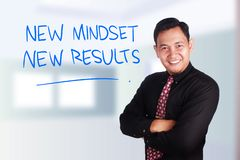 Self Development Motivational Words Quotes Concept, New Mindset Result royalty free stock photos