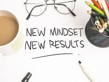 Self Development Motivational Words Quotes Concept, New Mindset Result royalty free stock photography
