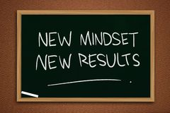 Self Development Motivational Words Quotes Concept, New Mindset Result stock photo