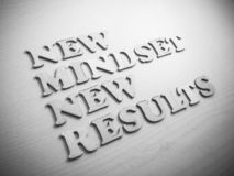 Self Development Motivational Words Quotes Concept, New Mindset stock photo
