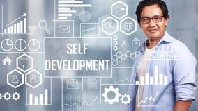 Self Development, Motivational Words Quotes Concept stock image