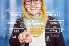 Self Development, Motivational Words Quotes Concept royalty free stock photos