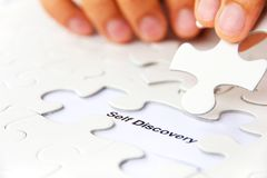 Self discovery concept. Missing puzzle piece, self discovery concept Stock Images