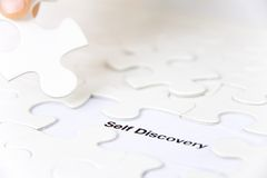 Self discovery concept Royalty Free Stock Image