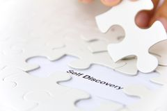 Self discovery concept. Missing puzzle piece, self discovery concept Royalty Free Stock Images