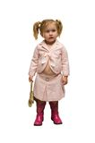 Self dressed infant stock photo
