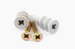 Self Drill Drywall Fixings Stock Photo