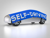 Self-driving car. Is covered Stock Photo
