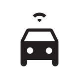 Self driving car - Glyph Icon - Black Royalty Free Stock Photos