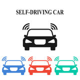 Self-driving car Royalty Free Stock Image