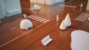 Self-driving cars - 3D Animation stock illustration