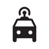 Self driving taxi - Glyph Icon - Black Royalty Free Stock Photos