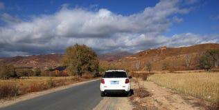 Self driving travel in Inner Mongolia Stock Photo