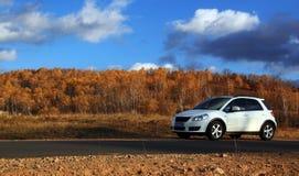 Self driving travel in Inner Mongolia Stock Images