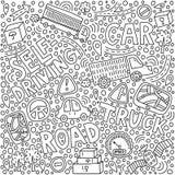 Self-driving truck illustration stock illustration