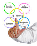Self - efficacy. Presenting diagram of Self - efficacy stock image