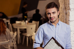 Self-employed restaurant owner Royalty Free Stock Photography